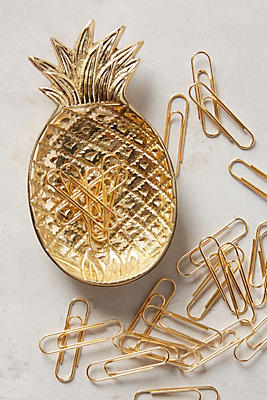 Slide View: 1: Ananas Trinket Dish & Clips