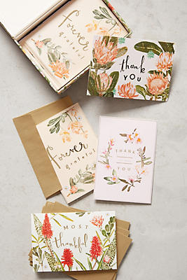 Slide View: 1: Fields Abloom Thank You Cards