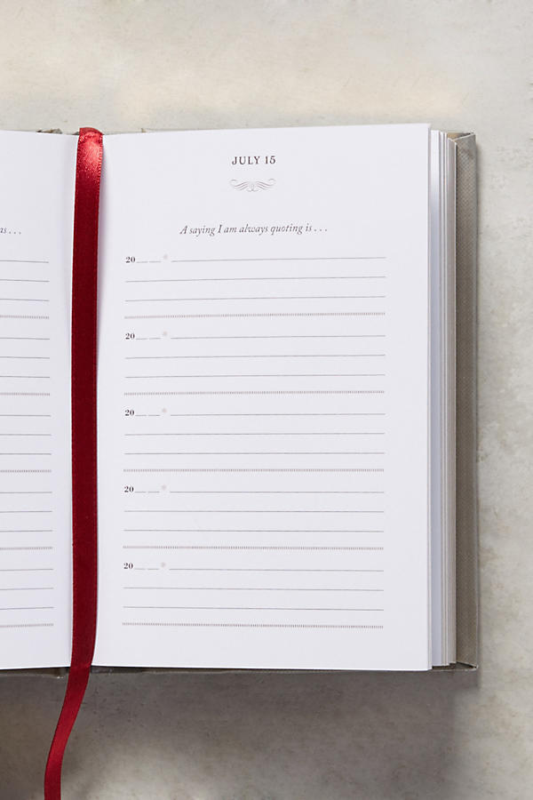 Slide View: 2: Five-Year Memory Journal