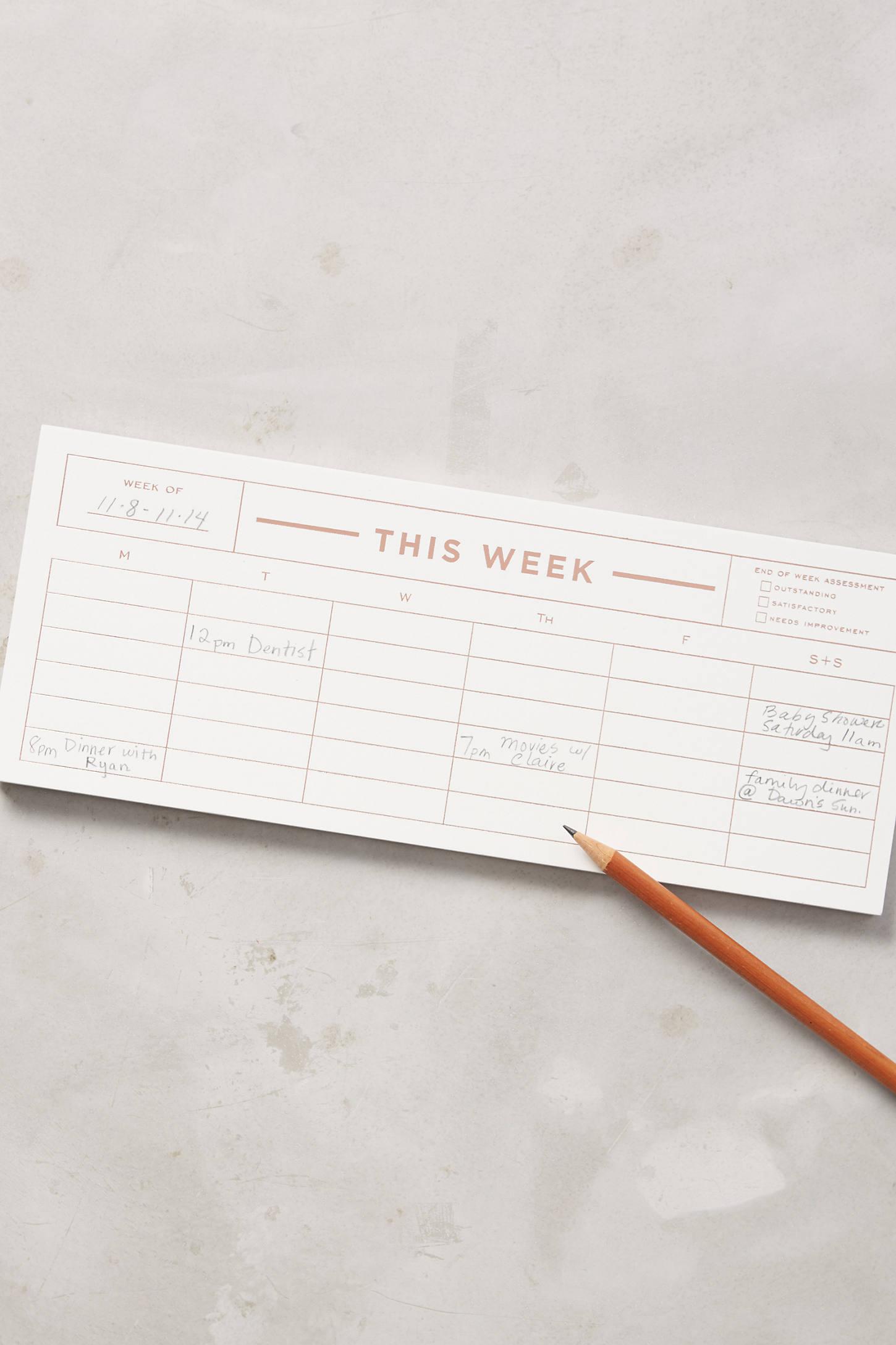 Weekly Notepad