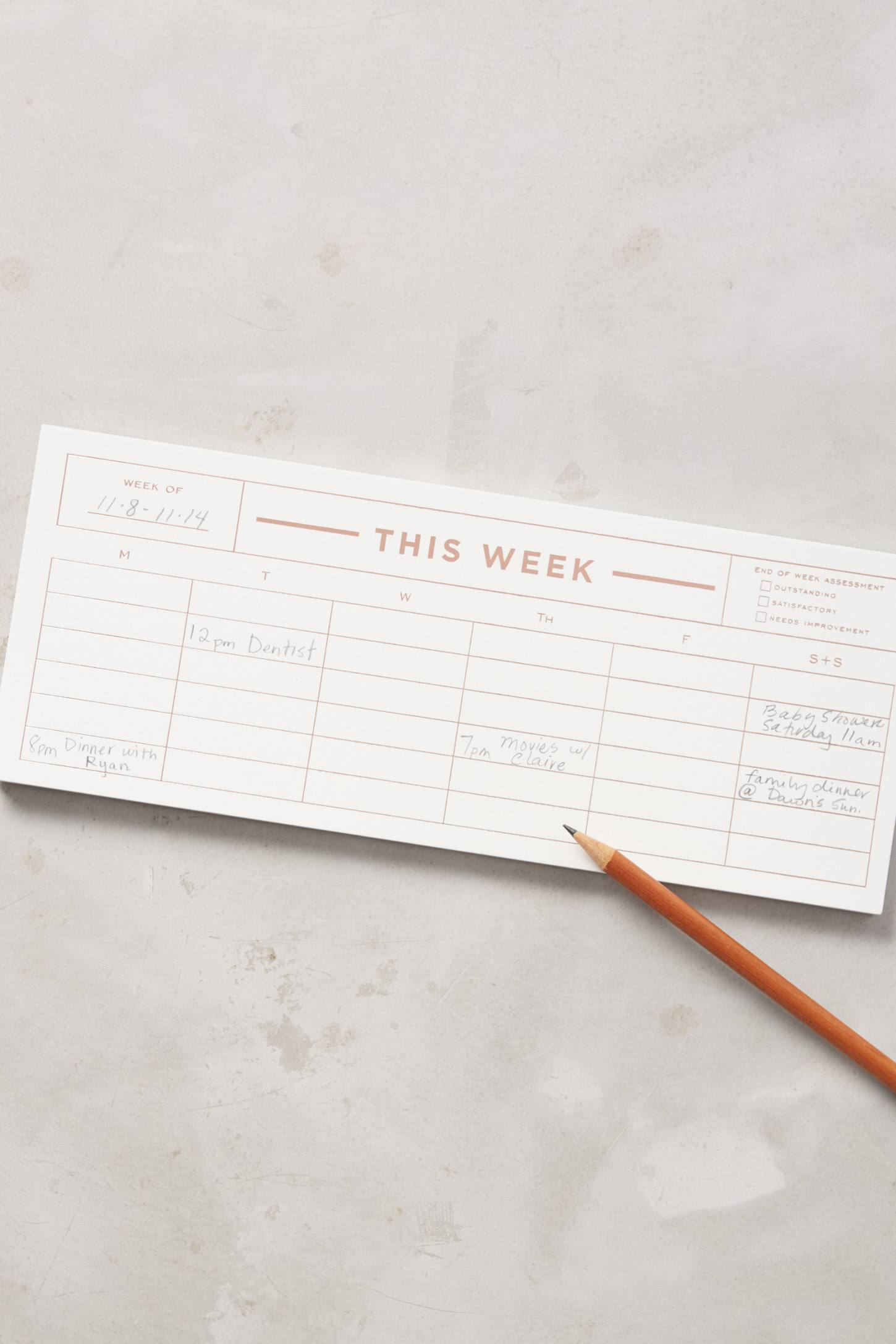 Slide View: 1: Weekly Notepad