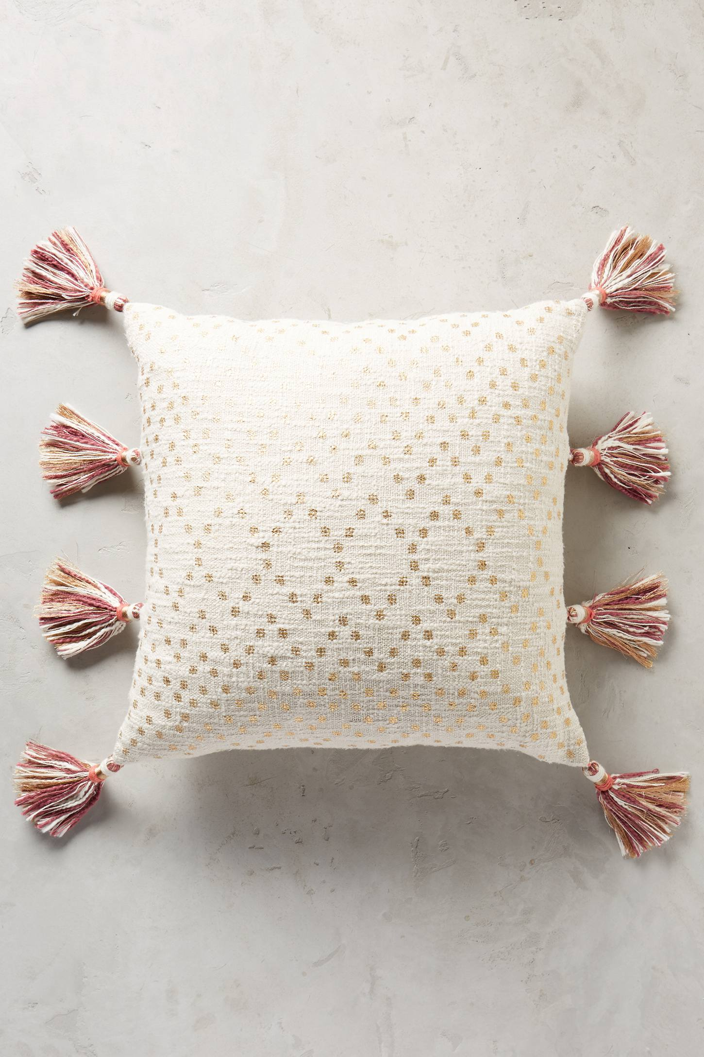 Slide View: 8: Tasseled Pointilliste Pillow
