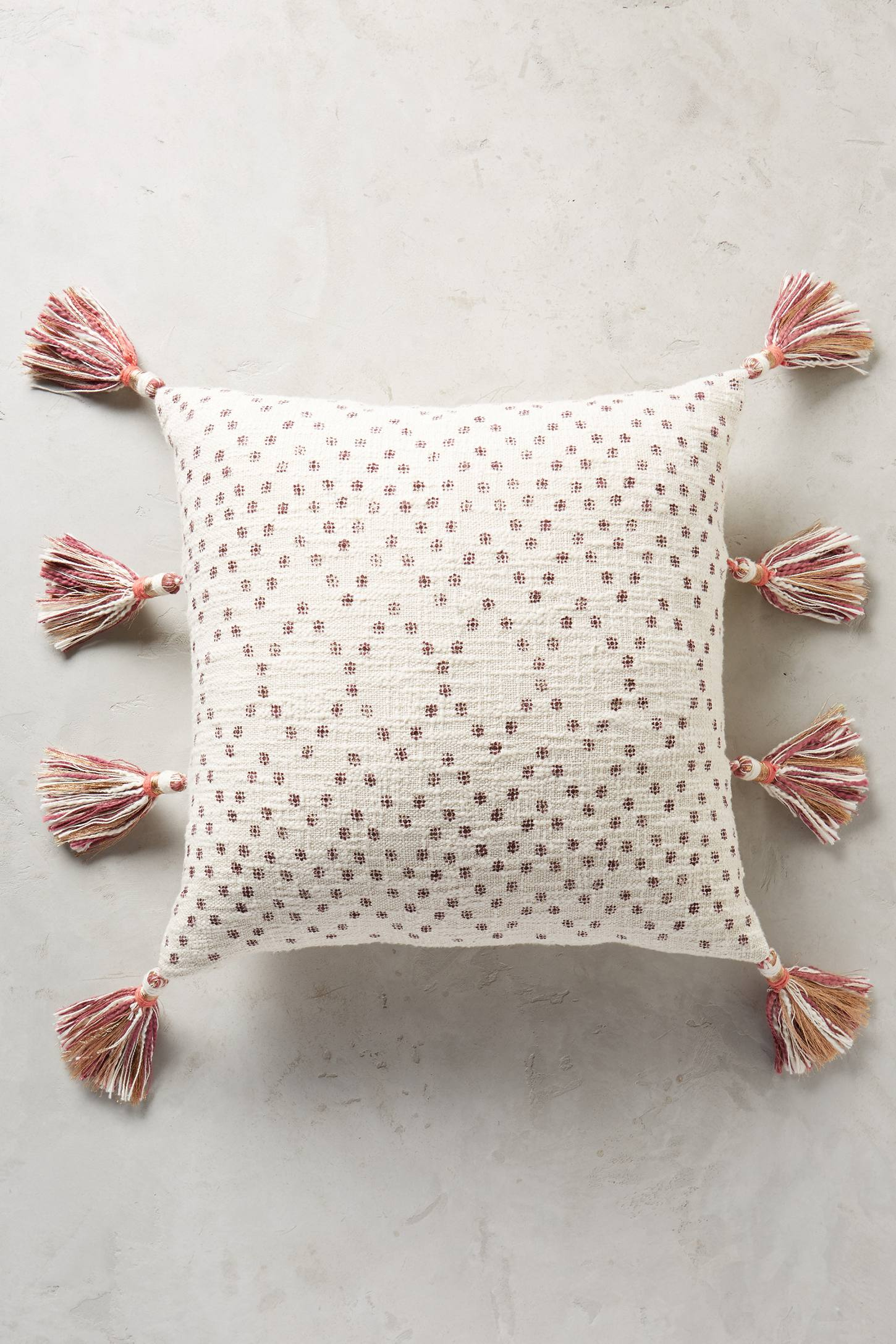 Slide View: 9: Tasseled Pointilliste Pillow