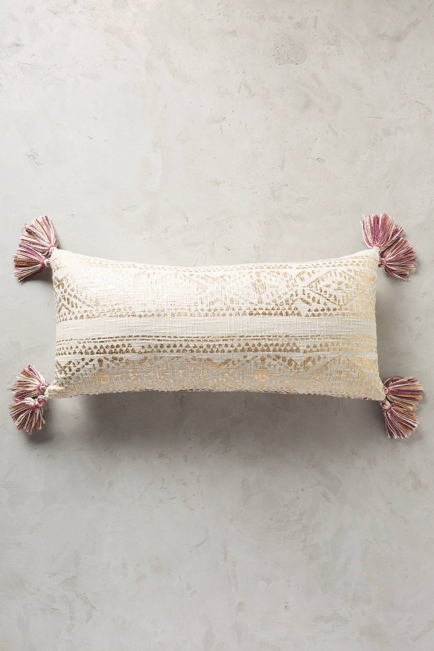 Slide View: 10: Tasseled Pointilliste Pillow