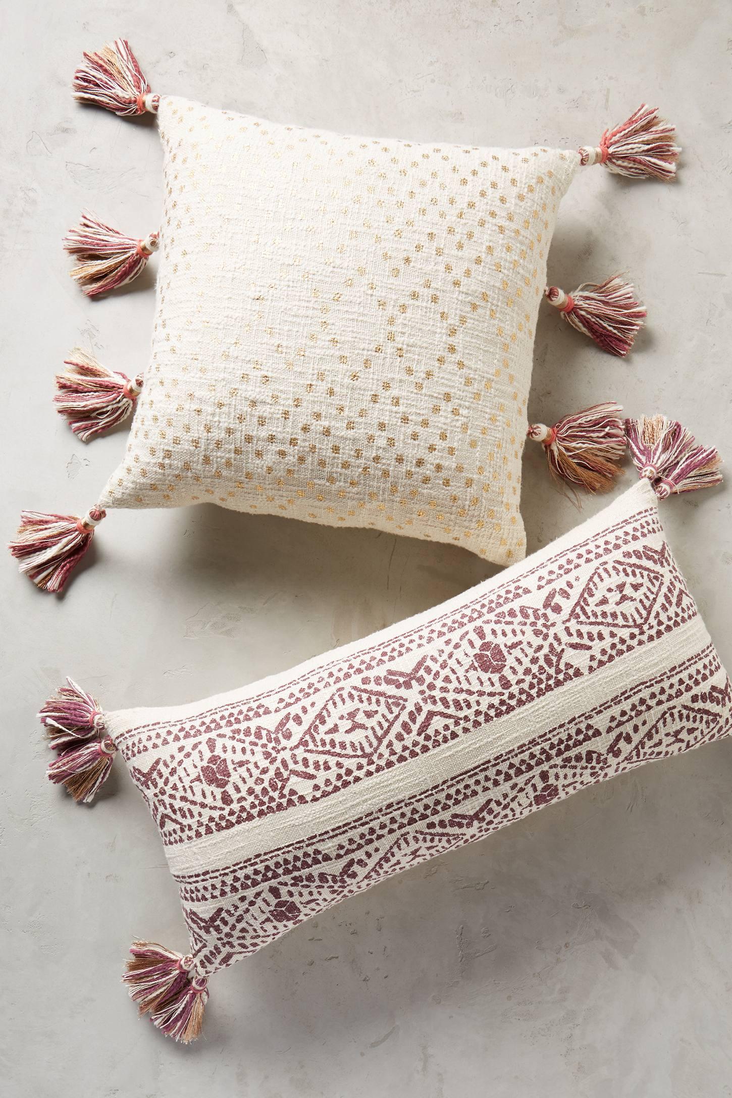 tasseled pointilliste pillow anthropologie. Black Bedroom Furniture Sets. Home Design Ideas