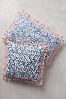 Folding Fans Pillow Anthropologie