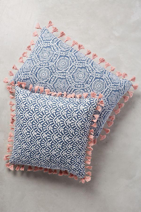 folding fans pillow anthropologie. Black Bedroom Furniture Sets. Home Design Ideas