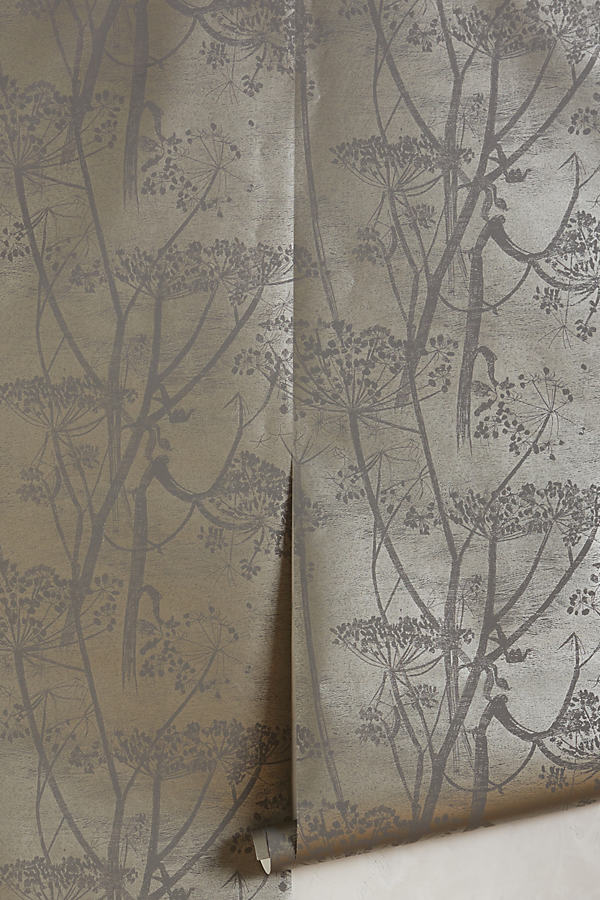 Queen Anne's Lace Wallpaper - Grey