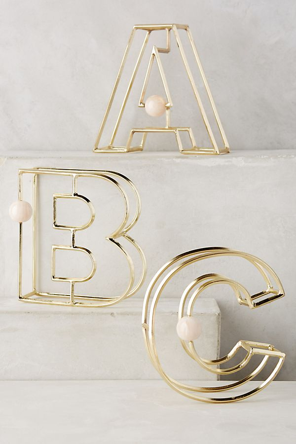 Illusion Monogram Letter | Anthropologie