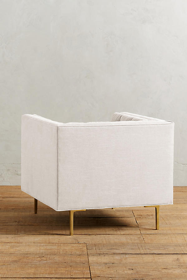 Slide View: 2: Belgian Linen Mina Chair
