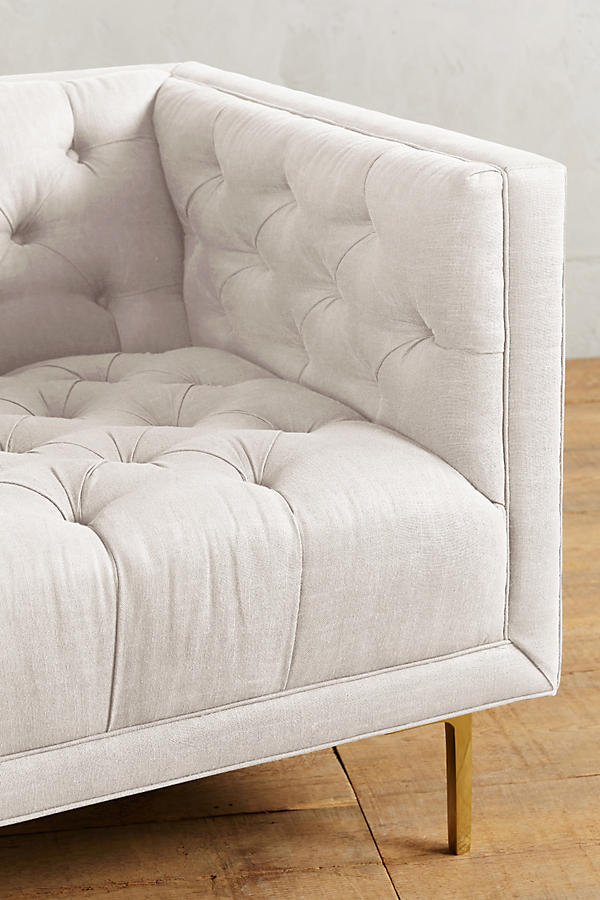 Slide View: 3: Belgian Linen Mina Chair