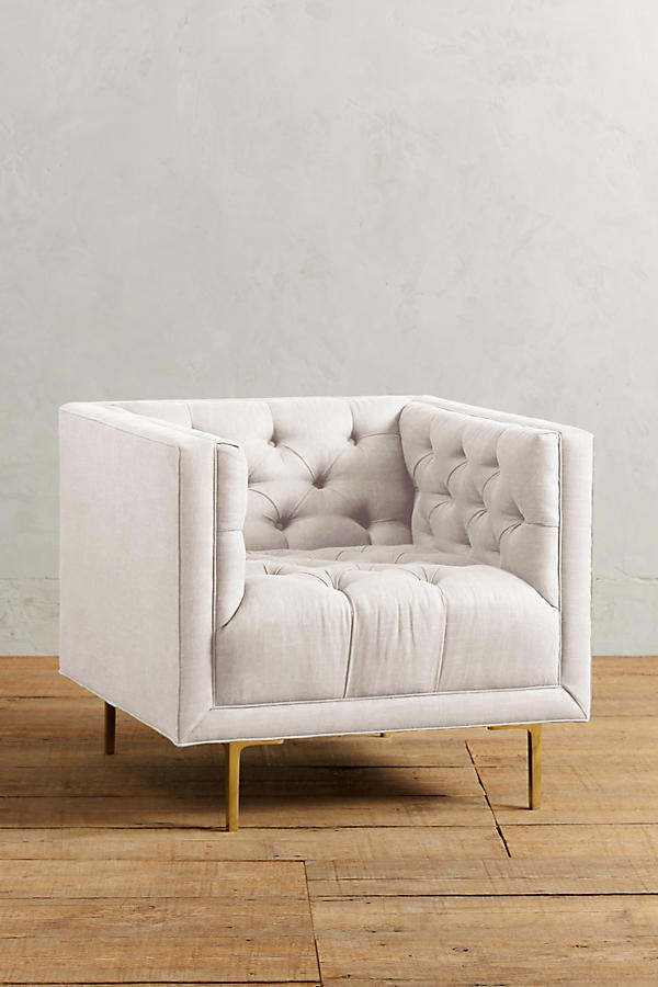 Slide View: 1: Belgian Linen Mina Chair