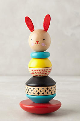 Slide View: 2: Stacking Wooden Rabbit