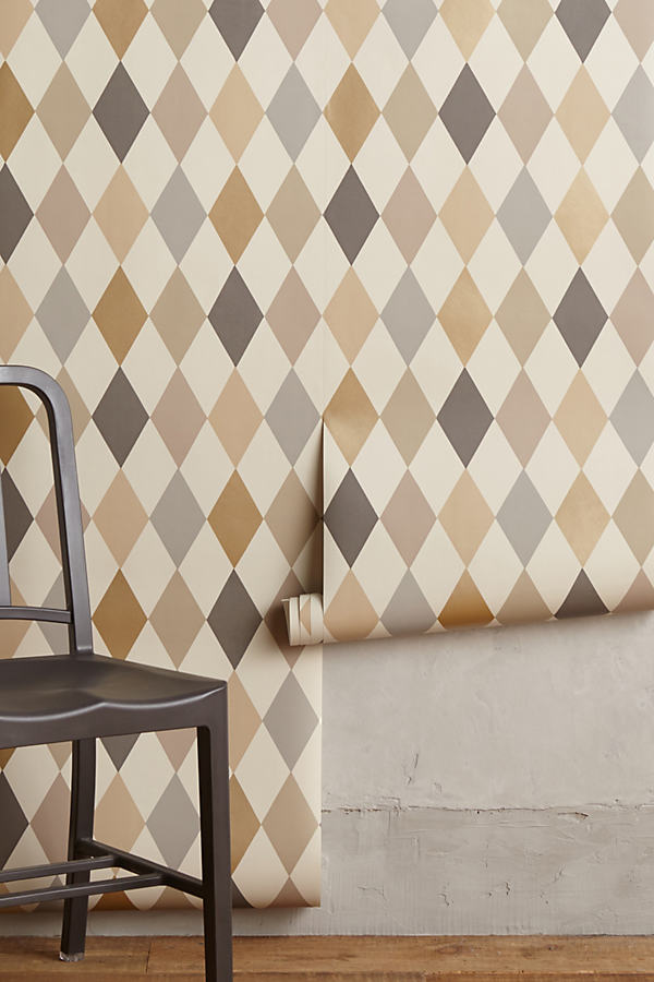 Argyle Wallpaper - Beige
