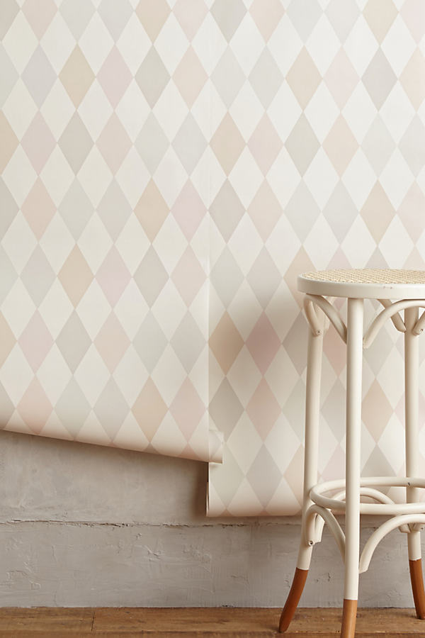 Argyle Wallpaper - Pink