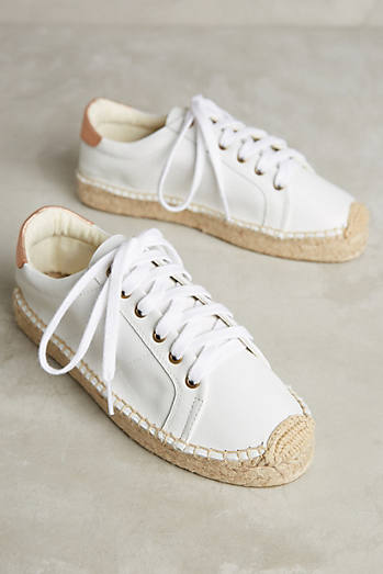 Soludos Leather Espadrille Sneakers