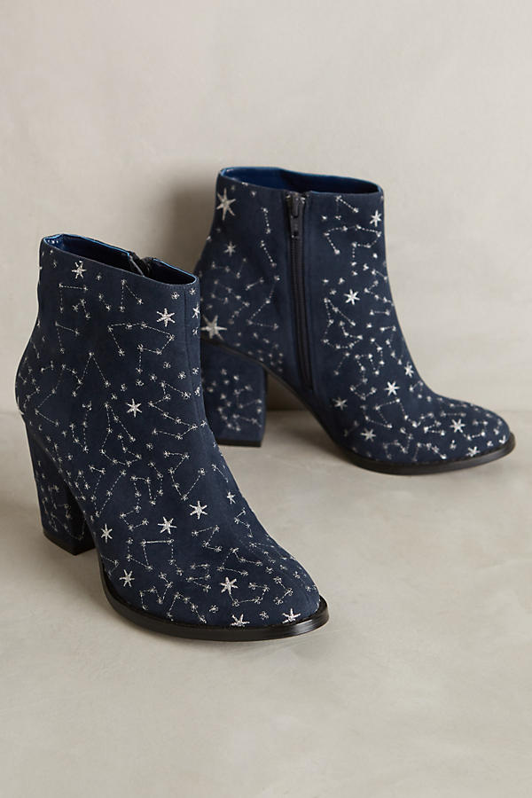 Billy Ella Embroidered Star Booties Anthropologie
