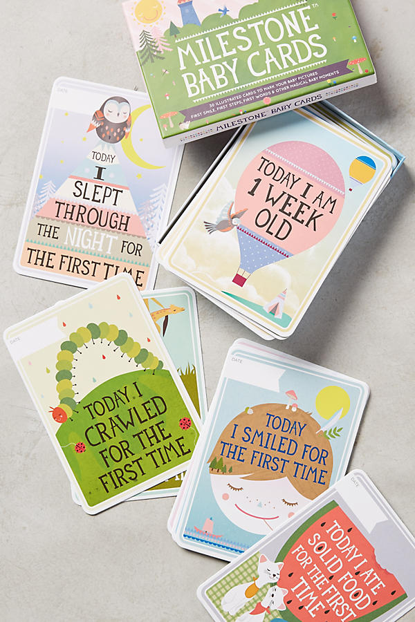 Slide View: 1: Milestone Baby Cards