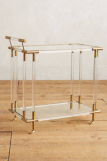 Slide View: 2: Oscarine Lucite Bar Cart