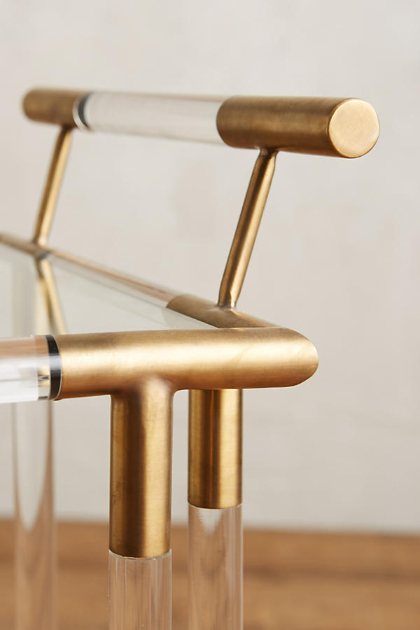 Slide View: 3: Oscarine Lucite Bar Cart