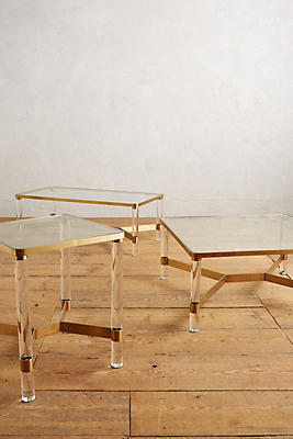 oscarine lucite coffee table, square | anthropologie