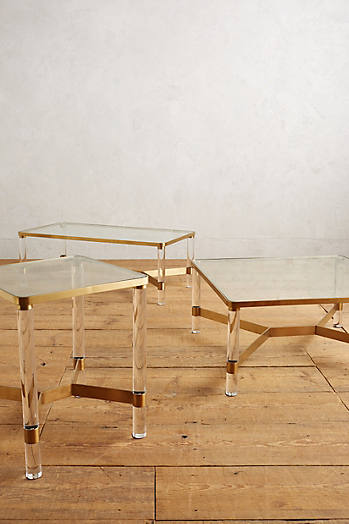 Slide View: 4: Oscarine Lucite Coffee Table, Square