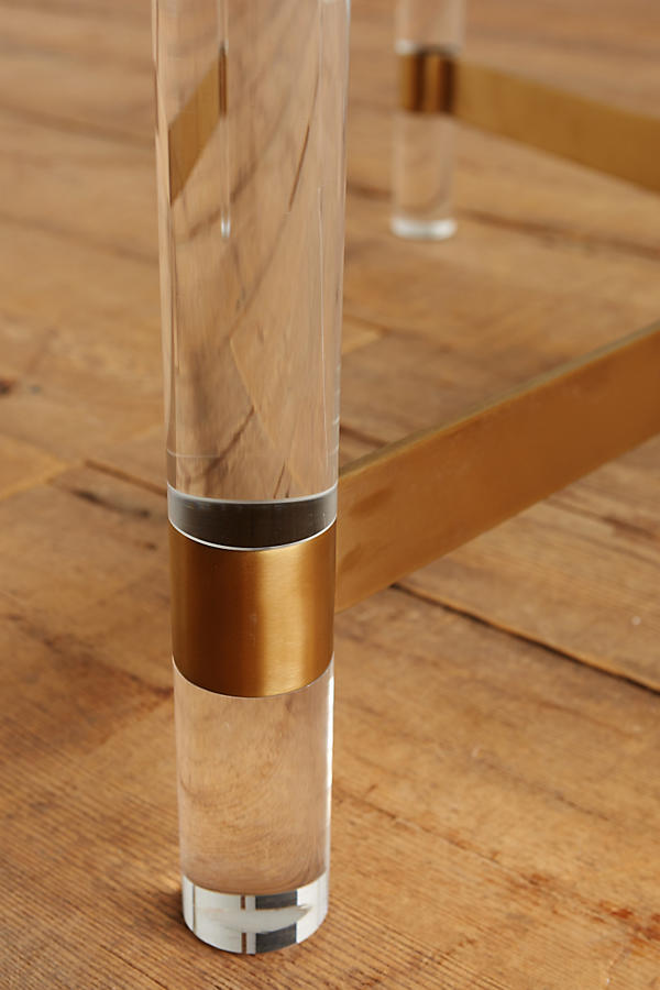 Slide View: 2: Oscarine Lucite Coffee Table, Square