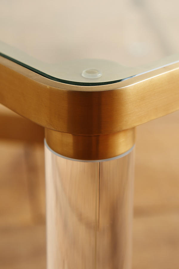 Slide View: 3: Oscarine Lucite Coffee Table, Square