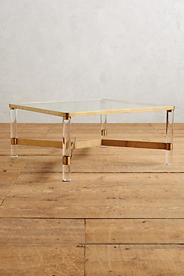 Square Or Rectangle Coffee Table oscarine lucite coffee table, square | anthropologie