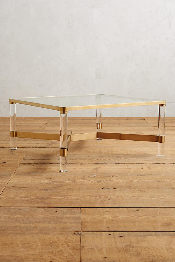 Slide View: 1: Oscarine Lucite Coffee Table, Square