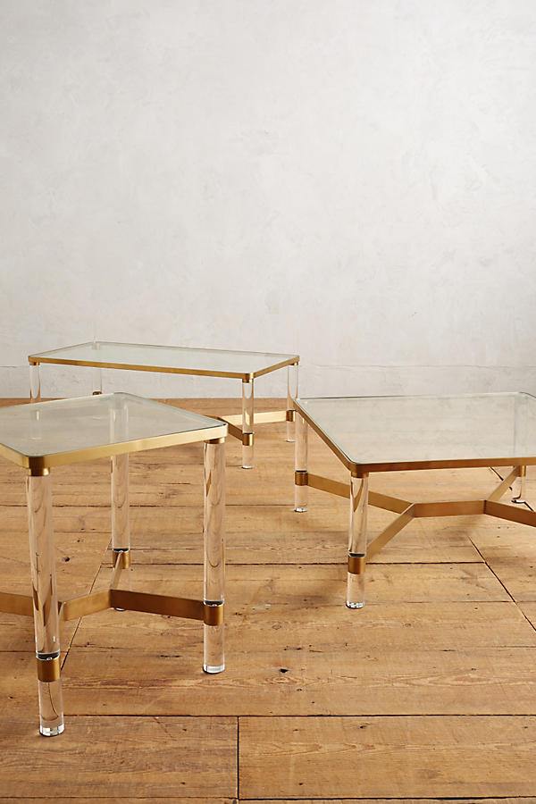 Slide View: 2: Oscarine Lucite End Table
