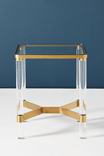 Slide View: 3: Oscarine Lucite End Table