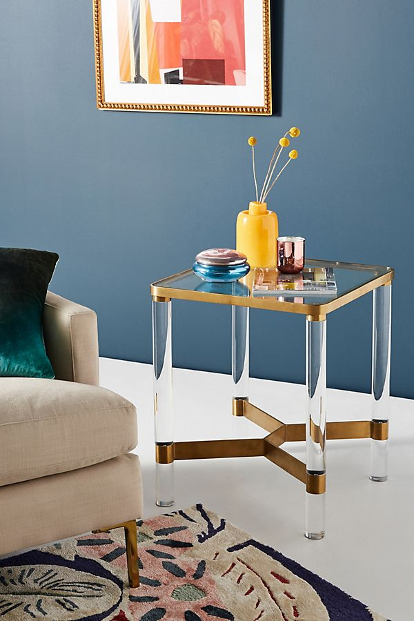 Oscarine Lucite End Table | Anthropologie