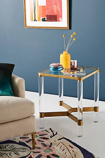 Slide View: 1: Oscarine Lucite End Table