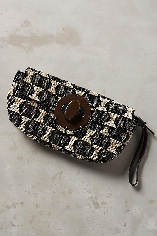 Graphic Beadwork Clutch