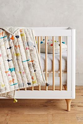 Slide View: 1: Animal Parade Toddler Blanket