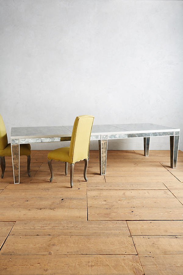 Fontaine Mirrored Dining Table - Silver
