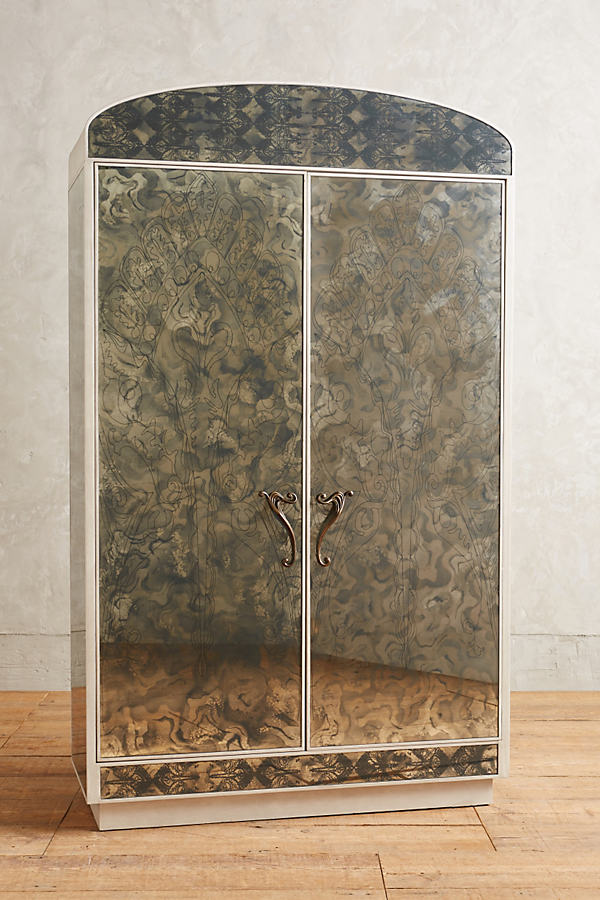 Fontaine Mirrored Armoire - Silver