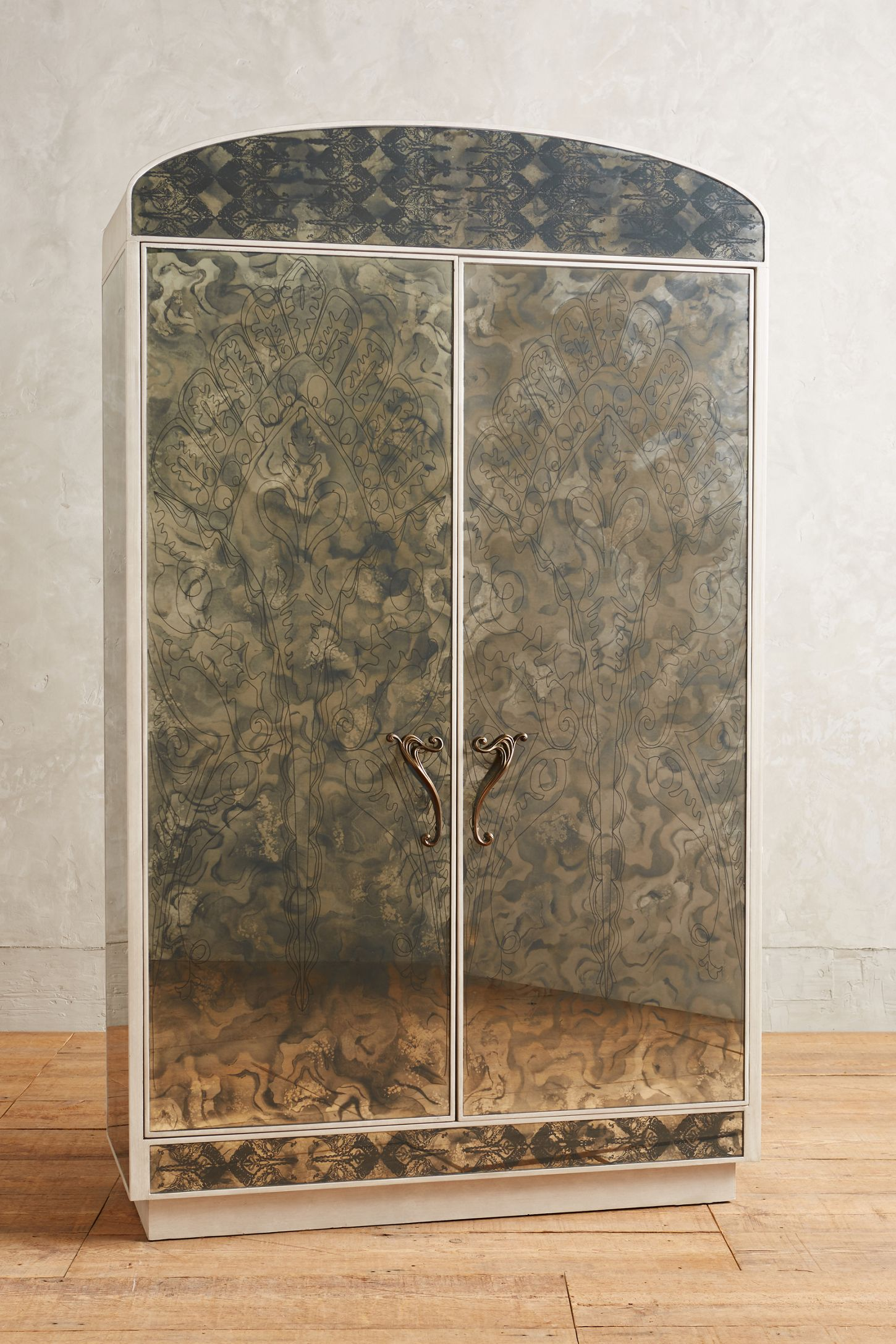 Fontaine Mirrored Armoire Anthropologie Uk
