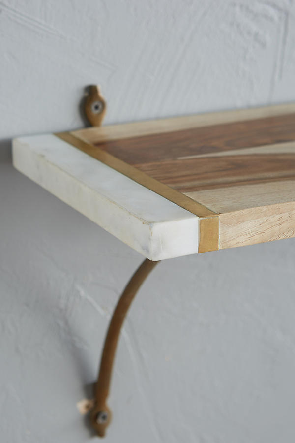 Slide View: 3: Marble-Edged Shelf
