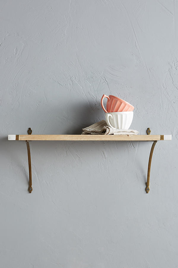Slide View: 1: Marble-Edged Shelf