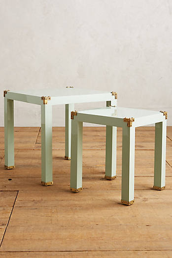 Lacquered Wellington Nesting Tables