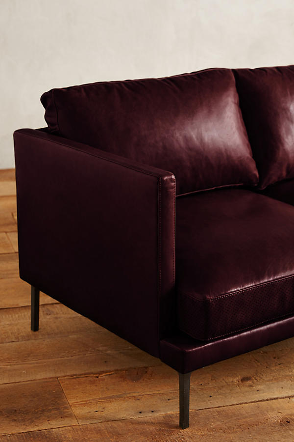 Slide View: 3: Leather Linde Sofa