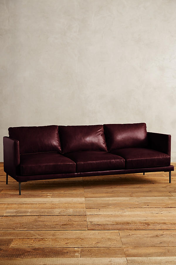 Slide View: 1: Leather Linde Sofa