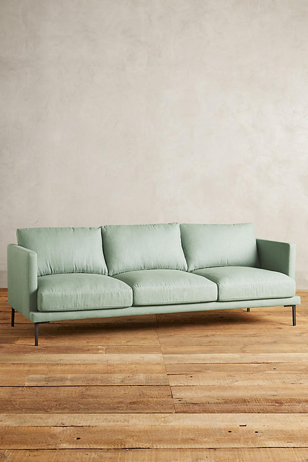 Slide View: 1: Linen Linde Sofa