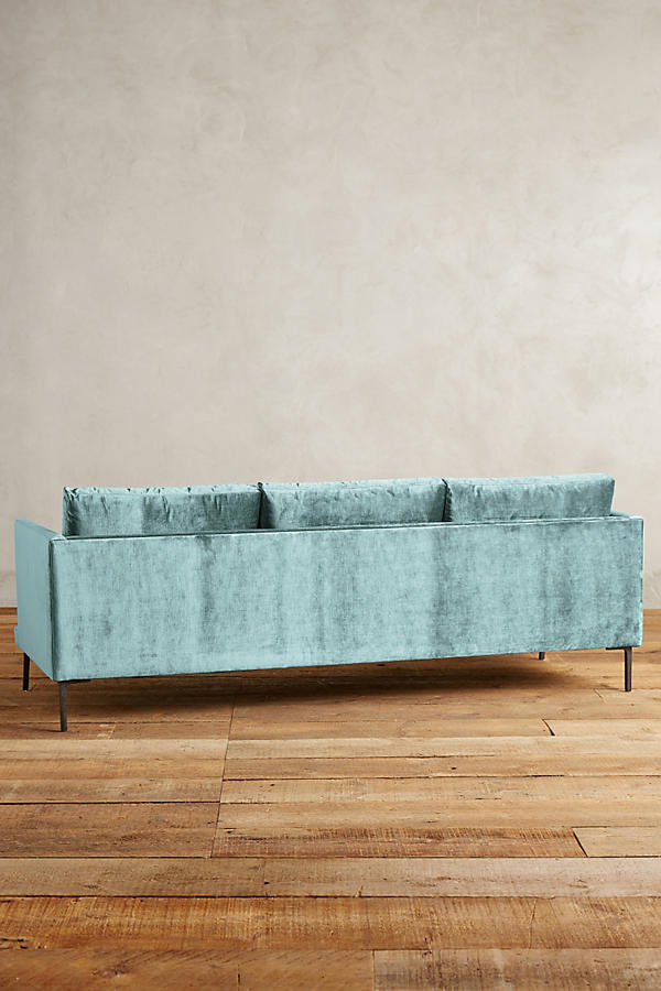 Slide View: 2: Slub Velvet Linde Sofa