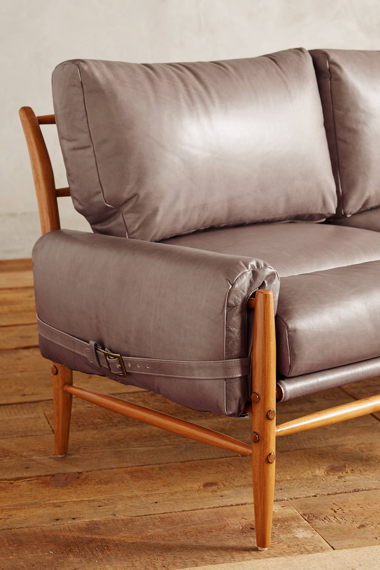 Slide View: 3: Leather Rhys Sofa