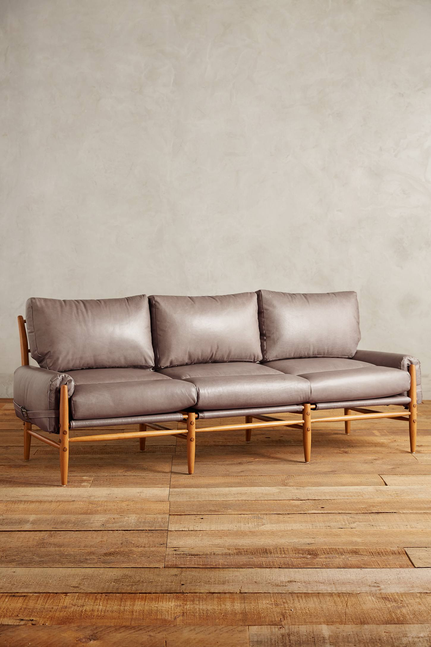 Slide View: 1: Leather Rhys Sofa