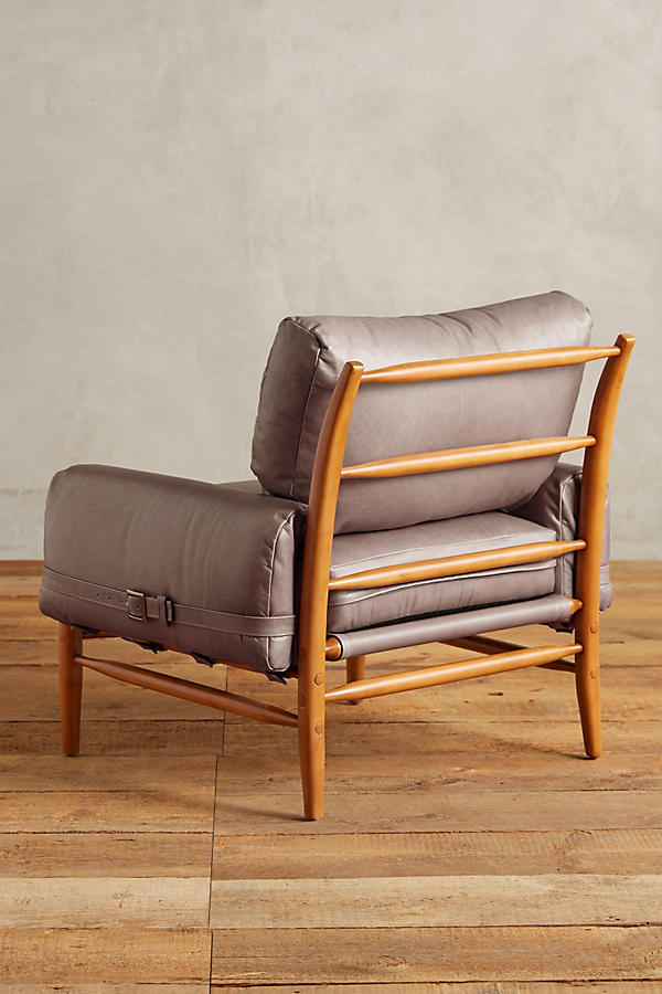Slide View: 2: Leather Rhys Chair