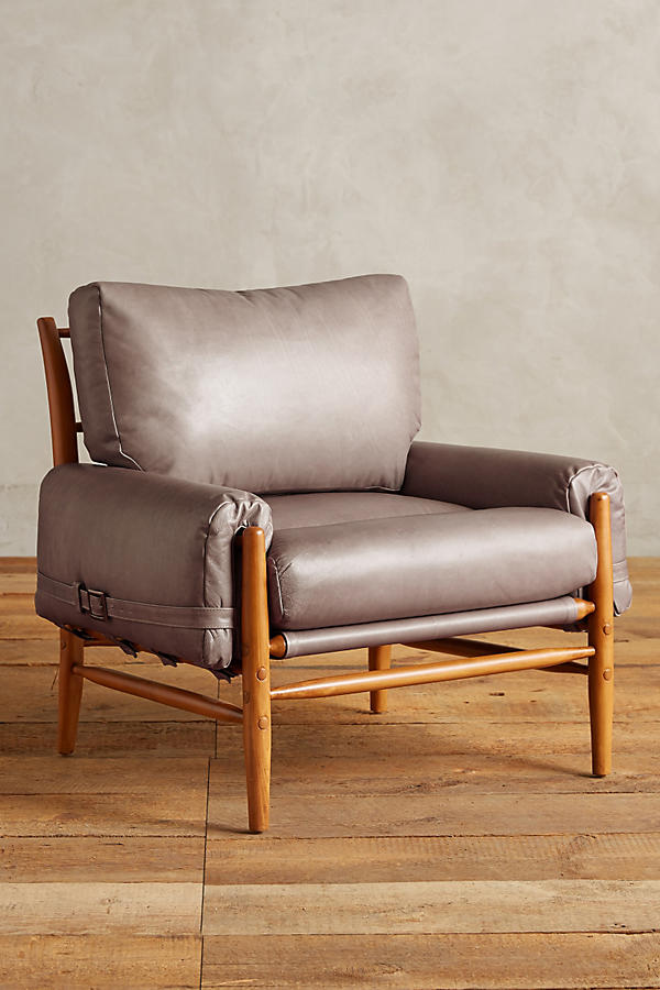 Slide View: 1: Leather Rhys Chair